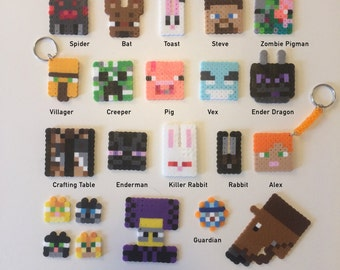 Minecraft Keychains Pendants, Lanyards, Magnets, Zipper Charms