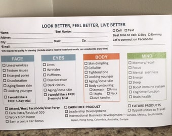 Nerium notepad for vendor events/RRP