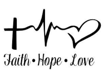 Faith Hope Love Decal Window Sticker Car Vinyl Decal
