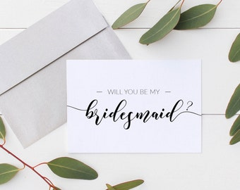 Will You Be My Bridesmaid Cards - Will You Be My: Maid of Honor, Matron of Honor, Flower Girl,Bridesmaid Proposal Card (5ct Mix & Match) BM5