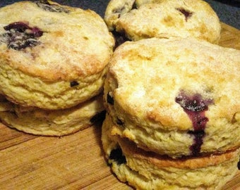 Lemon Blueberry Buttermilk Biscuits