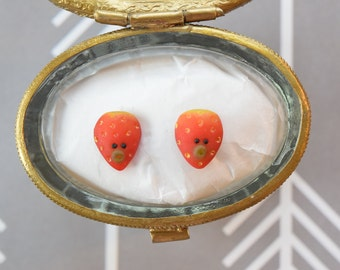 Strawberry Stud Earring