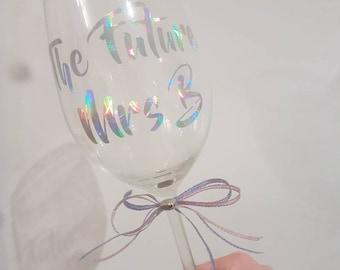 FUTURE MRS wine glass