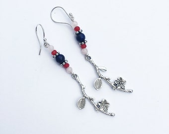 Mulan/Fa Mulan Inspired Gemstone Earrings