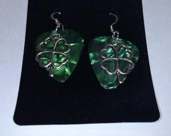 4 Leaf Clover Charm Earrings