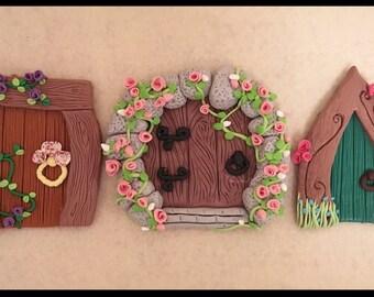 Set of Three Fairy Doors