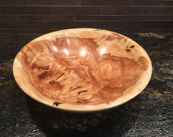 One of a kind, golden rain tree, hand turned wood bowl.