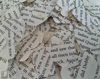 Table Confetti Hearts - Harry Potter Series (made from recycled books, perfect for weddings)