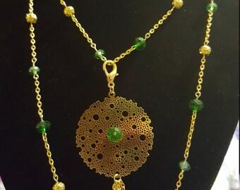 Long golden chain necklace