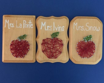 Personalized Teacher String Art Sign