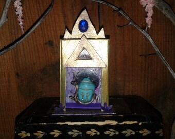 Budha Spirit House Matchbox Shrine Enchanted Reliquary