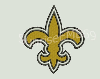 5 Sizes**New Orleans Saints Embroidery design- 7 formats machine embroidery design - Instant Download machine embroidery pattern