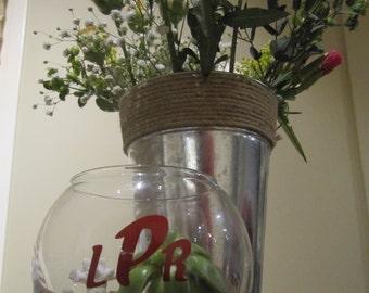 Bubble Vase Centerpiece Personalized Set of 3