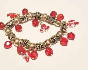 Red Hat Society Silver Stretch Bracelet