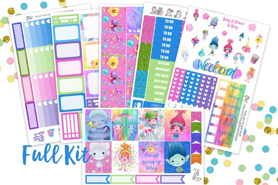 Trolls Year Planner Stickers