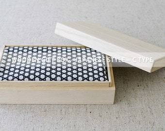 Clearance Sale - Wooden gift box - JAPANESE STYLE - C TYPE