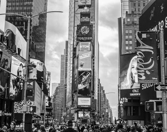 Instant Digital Download Printable Fine Art Time Square New York 2017