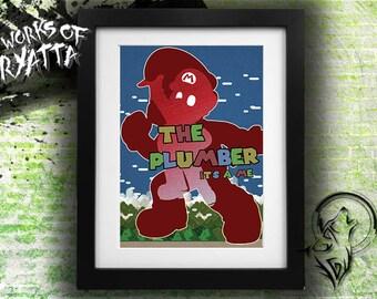 The Plumber; Super Mario Print