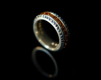Sapphire Eternity ring, eternity band, eternity ring diamond, eternity, Sapphire ring, 18ct gold ring