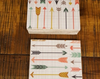 Set of 4 travertine tile coasters Arrow design