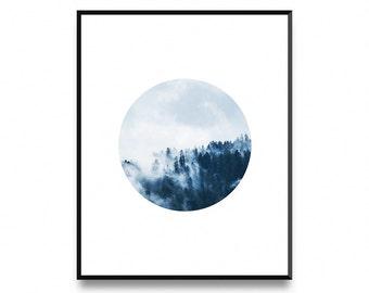 Nordic circle print, modern circle print, printable circle art, circle printable art, circle print, geometric print, abstract art prints