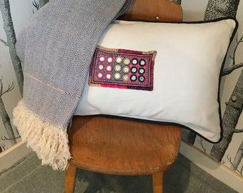 White khadi cotton Cushion cover