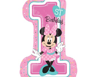 SHIPS FAST - Minnie Mouse Birthday Balloon, 1st Birthday Party, Minnie Mouse Party, Minnie and Mickey Party, Minnie Birthday Party