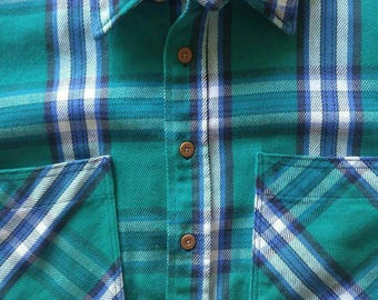 Vintage Big Mac Flannel, made in america, 1970s-80s