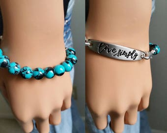 Live simply bracelet