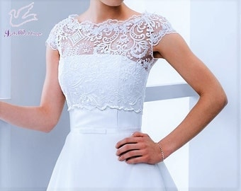 Bridal bolero with short sleeves