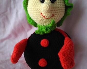 Crochet Ladybug, Crochet Doll, Amigurumi Ladybug, Amigurumi Crochet Ladybug