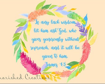 James 1:5 Print *INSTANT DOWNLOAD*