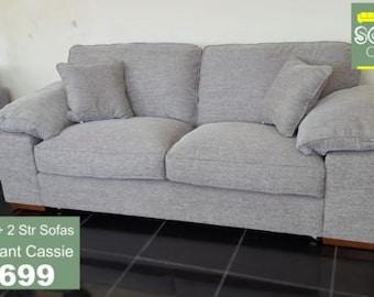 Designer Buoyant Cassie fabric 3 + 2 Seater sofas