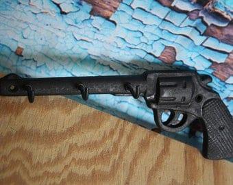 Cast Iron Pistol key hook