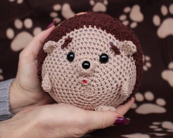 Hedgehog. Crochet. Sweet Hedgehog. approx. 12 cm. Other colours are possible, of course.