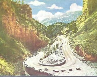 Temple Drive on way to Cave of the Winds Colorado Post Card
