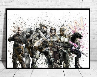 Halo Game Print,Game Wall Art, Halo Poster, Buy any 2 Prints get 3rd FREE, AG198