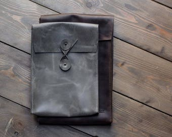MacBook Case, Leather Laptop Sleeve, Full Grain Leather Bag, 15 inch MacBook case, Office Bag, Personalized Laptop, Custom, FREE MONOGRAM