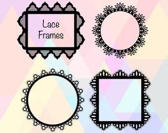 Lace Frame SVG File | Lace Frame Cricut | Lace Frame Cut File | Lace Frame Dxf | Lace Frame Eps | Lace Frame Clipart | Lace Frame Cutting