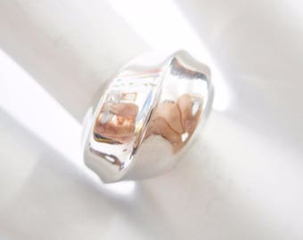 Sterling Ring, Band Ring, Sterling Band, Silver Band, Genuine Sterling Silver Highly Polished Band Ring Size 6.75 #2064