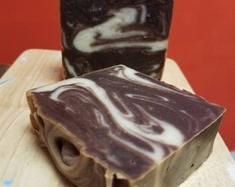 Thin Mint Bar Soap with Organic Cocoa Butter.