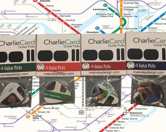 MBTA Charlie Card Guitar Pick