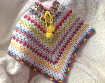 Girl children crochet poncho