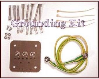 Grounding Kit: for use with the black graphite painting of a faraday space