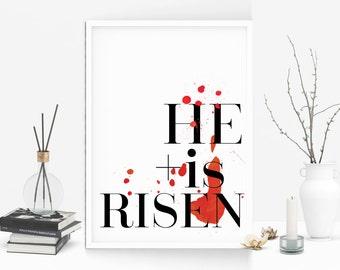 Christian wall art, Typography, Graphic Art, Poster, Inspirational, Printable