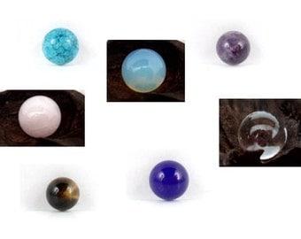 Ball, ball jewelry, semi-precious stone, 10 mm, 16 mm, Rose Quartz, jade, quartz