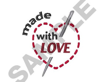 Made With Love - Machine Embroidery Design