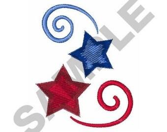 Stars Swirls - Machine Embroidery Design