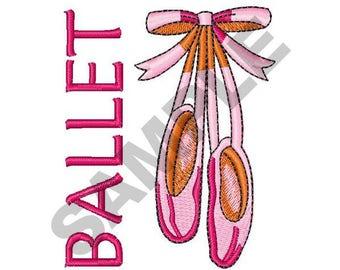Ballet - Machine Embroidery Design