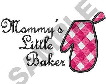 Mommy's Little Baker - Machine Embroidery Design